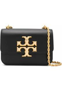 Tory Burch Gold Chain Shoulder Bag - Preto