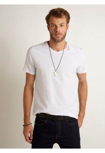 Camiseta John John Rg V Basic Malha Branco Masculina Tshirt Rg V Basic Branco-Branco-G