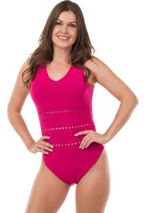Body Pink Tricot Decote V Pink