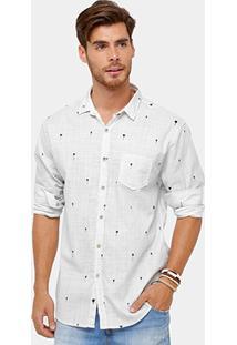 Camisa Foxton Mini Print Coqueiros Bolso Masculina - Masculino