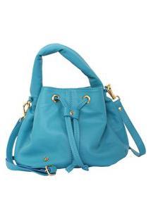 Bolsa Legítimo Azul Cobalto Premium De Mão Atz 13