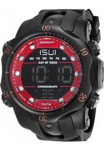 67c3160aeb0 PoliHouse. A Speedo Prova D Água Relógio Digital Masculino Preto Vermelho