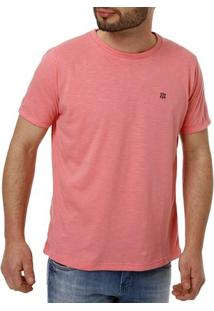Camiseta Manga Curta Masculina Rosa
