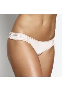 Calcinha BiquãNi Com Franzidos- Nude- Bonjourhope