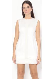 Vestido Com Linho - Off White - Alexandre Herchcovitalexandre Herchcovitch