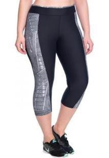 Legging Fitness Curta Urban Marcyn Plus Size - Feminino-Preto