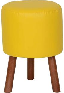Puff Banqueta Round Tripé - Stay Puff - Amarelo