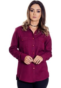 Camisa Pimenta Rosada Joaquina Xadrez Vinho