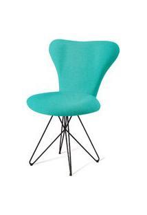 Cadeira Jacobsen Series 7 Verde Com Base Estrela Preta - 55922 Verde