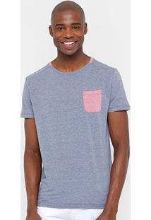 Camiseta Triton Bicolor Bolso Masculina - Masculino