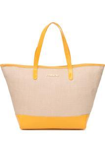 Bolsa Petite Jolie Summer Amarela/Bege