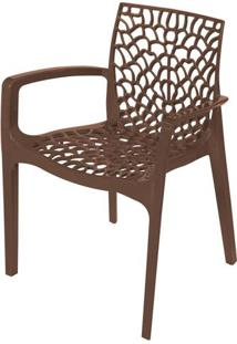 Cadeira Gruver Com Braco Polipropileno Cafe - 30476 - Sun House