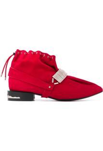 Toga Pulla Drawstring Ankle Boots - Vermelho