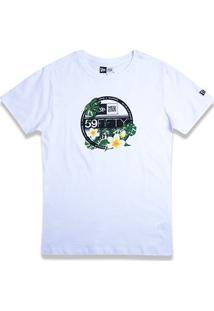 Camiseta New Era Girls Flower Sticker Feminina - Feminino