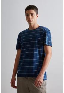 Camiseta Mc Palmeira Reserva Masculina - Masculino-Azul Petróleo