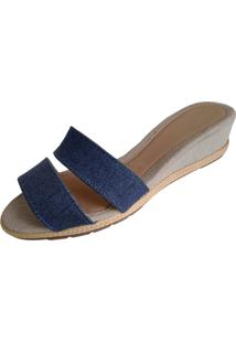 Sandalia Scarpe Anabela Jeans