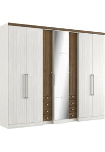 Guarda-Roupa 7 Portas Thb Absolut Plus Glass 4544 Teka Sensitive/Carvalho Sensitive Se