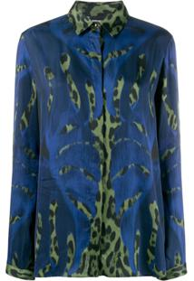 Just Cavalli Blusa Animal Print - Azul