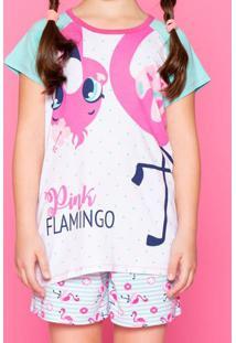 Pijama Flamingo- Verde Água & Rosa Claropuket