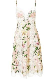 Dolce & Gabbana Vestido Midi Estampado - Rosa