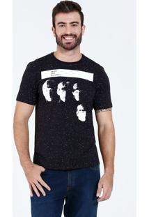Camiseta Masculina Manga Curta The Beatles Marisa