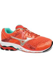 Tenis Mizuno Running Wave Elevation 2 Azul Rosa