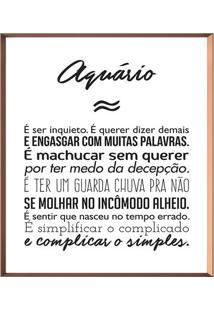 Quadro Decorativo Aquã¡Rio- Ros㪠Gold & Branco- 50X50Arte Prã³Pria