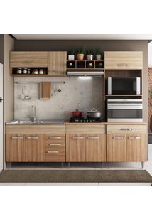 Cozinha Completa Nova York 10 Portas E 4 Gavetas - Pnr Móveis