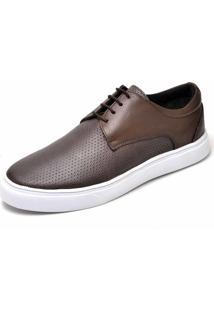 Tênis Casual Em Couro Dr Shoes Café
