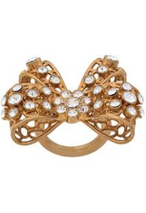 Versace Anel Com Aplicações - Dourado
