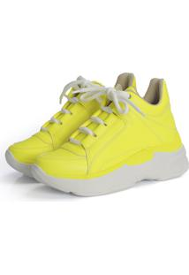 Tênis Not-Me Dad Sneakers Yellow Neon Color