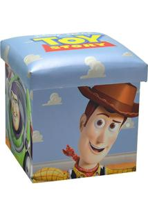 Puff Toy Story®- Azul Claro & Off White- 40X38X38Cm