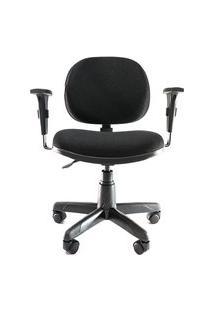 Cadeira Ergonômica Giratória Prolabore. Linha Cool. Ajuste Lombar. Braços Ajustáveis. Base Preta. Rodízios.Tecido Prolabore Produtos Ergonômicos