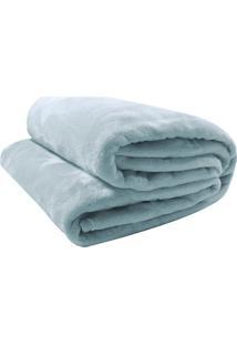 Cobertor Velour Solteiro- Verde ÁGua- 150X200Cm-Camesa