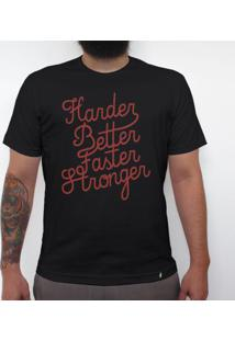 Harder Better Faster Stronger - Camiseta Clássica Masculina