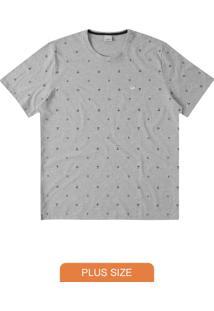 Camiseta Cinza Tradicional Ilustração
