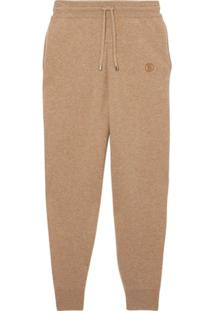 Burberry Monogram Cashmere Track Pants - Neutro