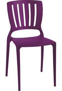 Cadeira Sofia Encosto Vazado Vertical Lilás - Tramontina