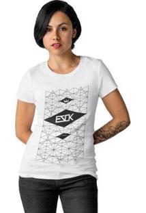 Camiseta Ezok Skate Lane Feminina - Feminino-Branco