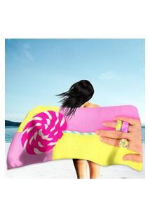 Toalha De Praia / Banho Hand Candy Loly Pop Único