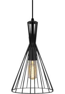 Pendente Aramado Preto Com Lâmpada Filamento De Carbono T45 220V Sl2492 Toplux - Kanui