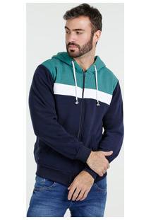 Casaco Masculino Moletom Capuz Blu Bay