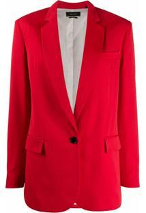 Isabel Marant Blazer Com Abotoamento Único - Vermelho