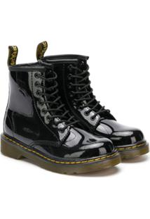 Dr. Martens Kids Lace-Up Ankle Boots - Preto