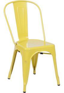 Cadeira De Jantar Retrã´- Amarela- 86X36X35,5Cm- Or Design