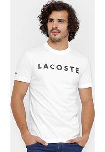 Camiseta Lacoste Print Masculina - Masculino-Branco