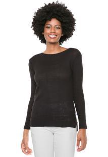 Suéter Mercatto Tricot Básico Preto