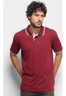 Camisa Polo Broken Rules Listras Masculina - Masculino-Vinho