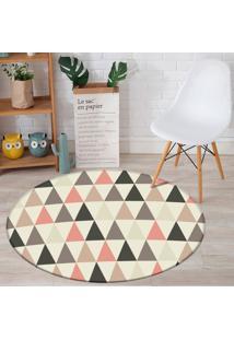 Tapete Redondo Wevans Multi Triângulos 84Cm