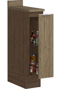Armário De Cozinha 1 Porta Sem Pé 4034R Cedro/Wood - Decibal Móveis